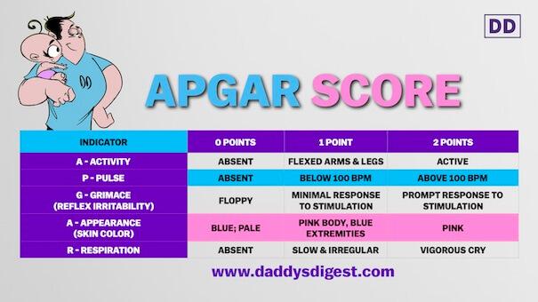 The Apgar Score For Newborns Daddys Digest
