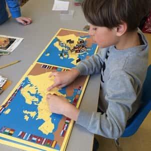 A Montessori style geography lesson