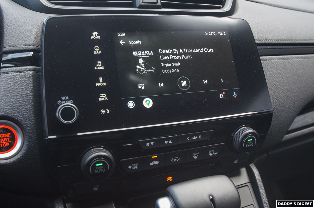 2022 Honda CR-V Black Edition Infotainment Screen